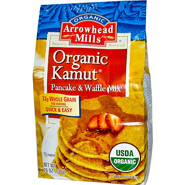 Arrowhead Mills, Organic Kamut Pancake & Waffle Mix, 26 oz (737 g) (Discontinued Item)