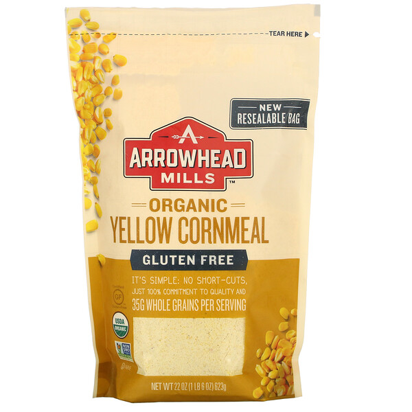 Organic Yellow Cornmeal, 22 oz (623 g)