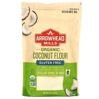 Arrowhead Mills, Organic Coconut Flour, Gluten Free, 16 oz (453 g)
