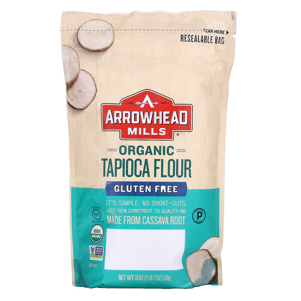 Arrowhead Mills, Organic Tapioca Flour, 18 oz (510 g)