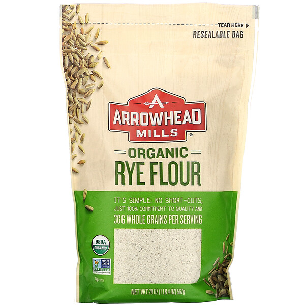 Organic Rye Flour, 20 oz (567 g)