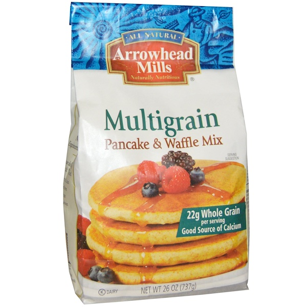 Arrowhead Mills, Multigrain Pancake & Waffle Mix, 26 oz (737 g) (Discontinued Item)