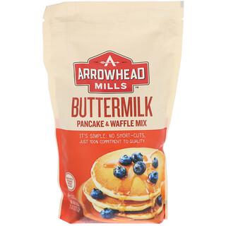 Arrowhead Mills, Натуральная смесь для оладий и вафель, с пахтой, 26 унций (737 г)