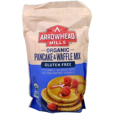 Купить Arrowhead Mills Органическая смесь для блинов и вафель, без глютена, 26 унций (737 г)