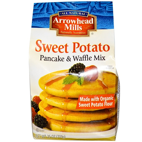 Arrowhead Mills, Pancake & Waffle Mix, Sweet Potato, 25 oz (709 g) (Discontinued Item)