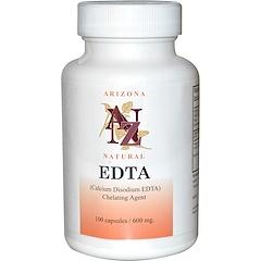 Arizona Natural, EDTA, 600 mg, 100 Capsulas