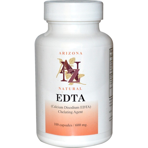 Arizona Natural, EDTA, 600 mg, 100 カプセル
