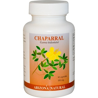 Arizona Natural, Chaparral, Larrea Tridentata, 500 mg, 90 Capsules