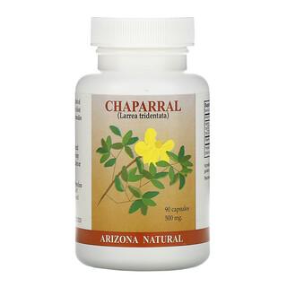 Arizona Natural, Chaparral, 500mg, 90capsules