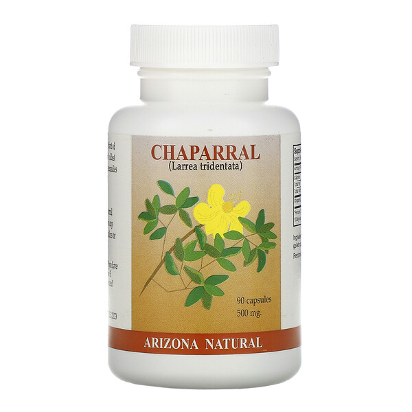 Arizona Natural, Chaparral, 500 mg, 90 Capsules