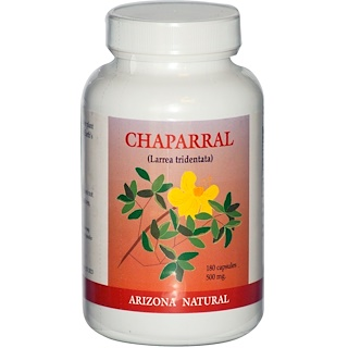 Arizona Natural, Chaparral, Larrea Tridentata, 500 mg, 180 Capsules