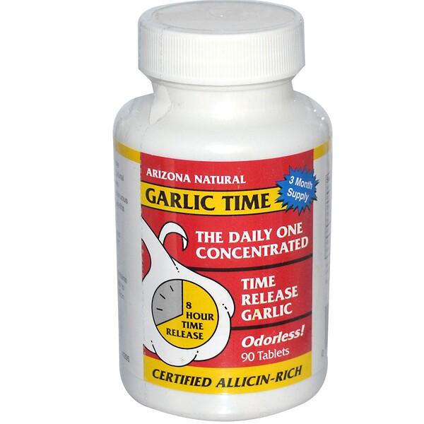 Arizona Natural, Garlic Time, 90 Tablets (Discontinued Item)