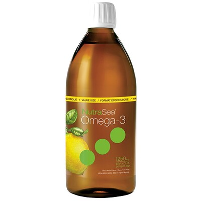 Купить NutraSea, омега-3, со вкусом лимона, 16, 9 жидкой унции (500 мл)