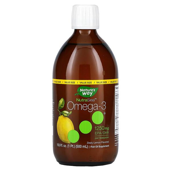 Ascenta, NutraSea, Omega-3, Zesty Lemon , 16.9 fl oz (500 ml)