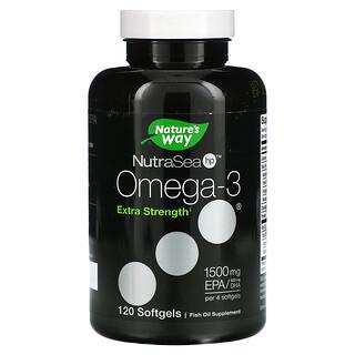 Ascenta, NutraSea hp, Omega-3, Extra Strength, Lemon, 120 Softgels