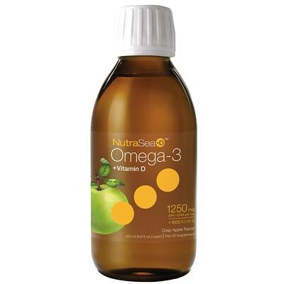 NutraSea + D™, омега-3 + витамин D, с ярким вкусом яблока, 200 мл (6,8 жидкой унции)