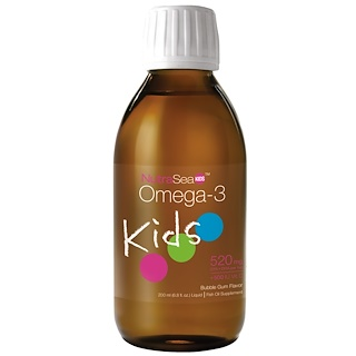 Ascenta, NutraSea Kids, Omega-3, Bubble Gum Flavor, 6.8 fl oz (200 ml)