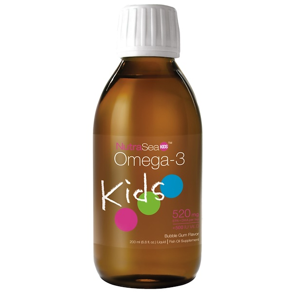 NutraSea Kids, Omega-3, Bubble Gum Flavor, 6.8 fl oz (200 ml)