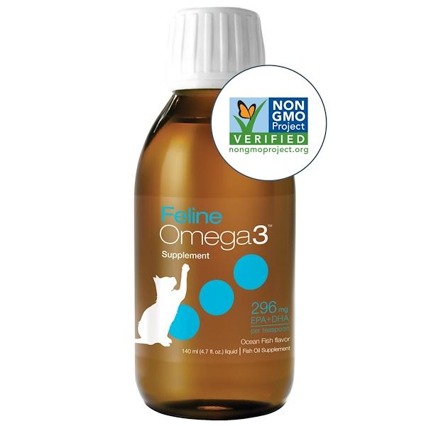 Ascenta, الأوميغا 3 للقطط، بنكهة سمك المحيط، 4.7 أوقية (140 مل) سائل
