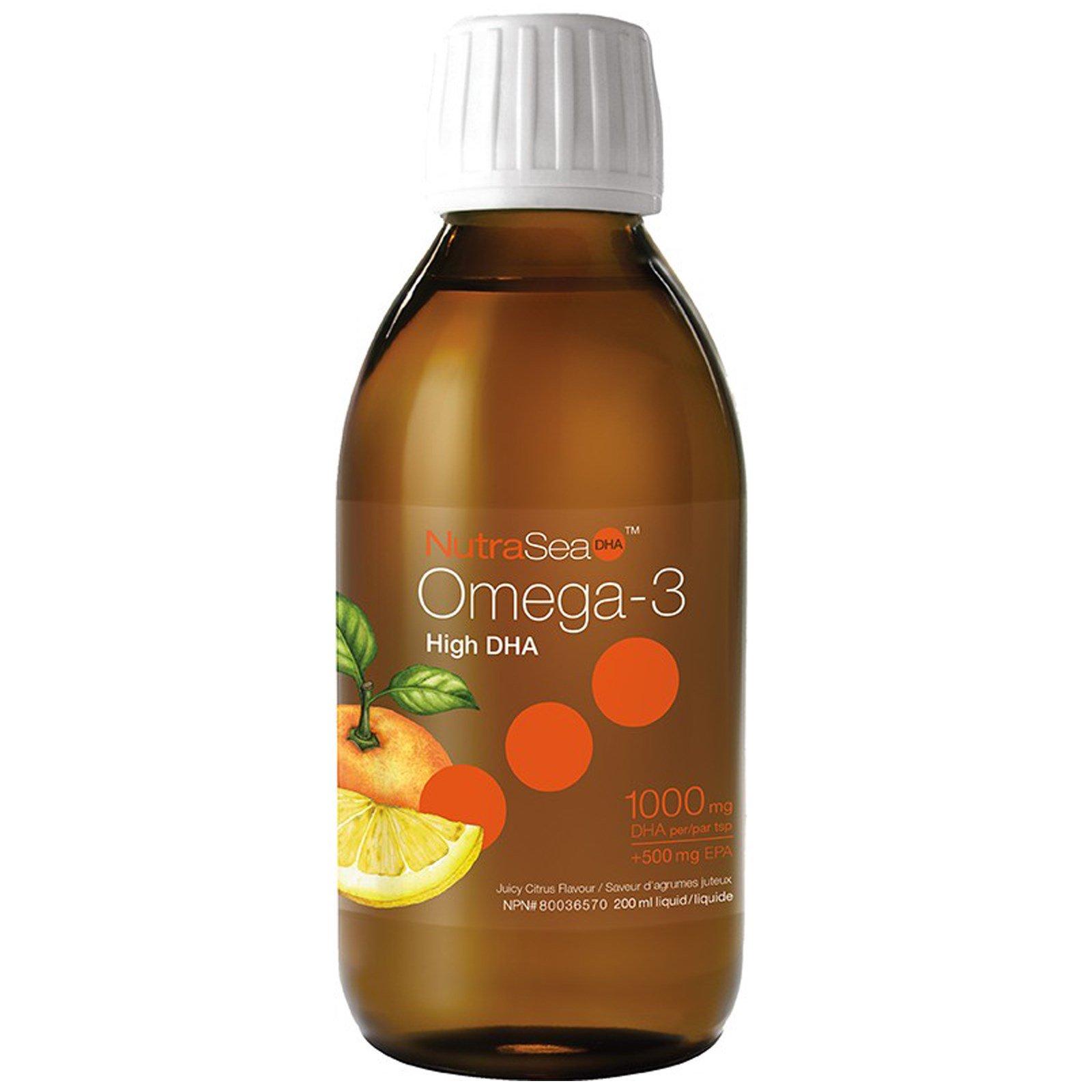Ascenta, NutraSea, омега-3 с высоким содержанием ДГК, со вкусом сочных цитрусов, 6,8 жидкой унции (200 мл)