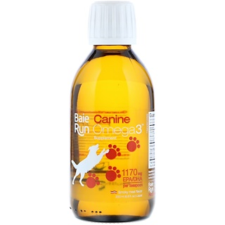 Ascenta, Baie Run, Canine Omega3, Smoky Meat Flavor, 6.8 fl oz (200 ml)