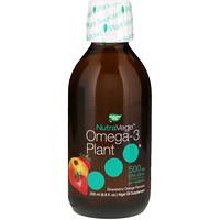NutraVege, Omega-3 Plant, Strawberry Orange Flavored, 500 mg, 6.8 fl oz (200 ml) - фото
