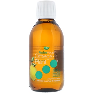 Ascenta, NutraVege, Omega-3 Plant, Zesty Lemon Flavored, 500 mg, 6.8 fl oz (200 ml)