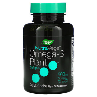 Ascenta, NutraVege,歐米茄-3 植物軟膠囊,500 毫克,30 粒