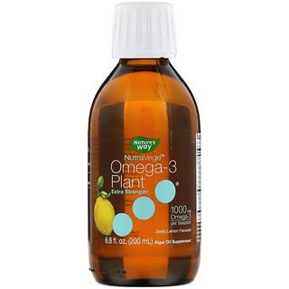 Ascenta, NutraVege, Omega-3 Plant, Extra Strength, Zesty Lemon Flavored, 1,000 mg, 6.8 fl oz (200 ml)
