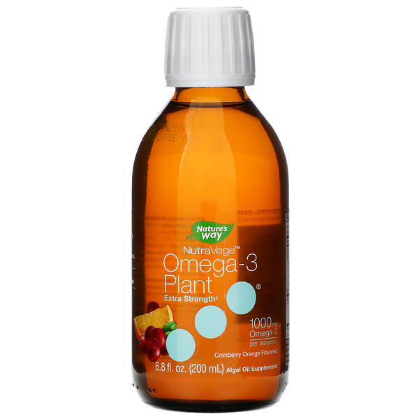 Ascenta, NutraVege, Omega-3 Plant, Extra Strength, Cranberry Orange Flavored, 1,000 mg, 6.8 fl oz (200 ml)