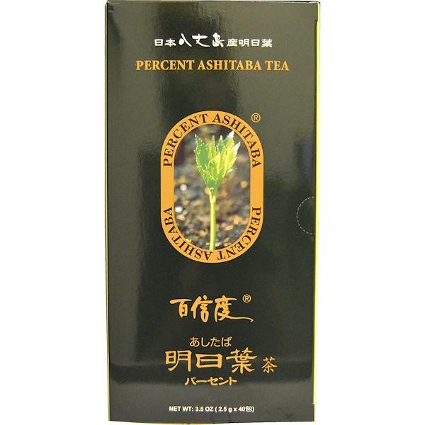 Percent Ashitaba, Tea, 40 Tea Bags, 3.5 oz (2.5 g) Each (Discontinued Item)