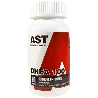 AST Sports Science, DHEA 100, 100 mg, 60 Cápsulas Vegtarianas