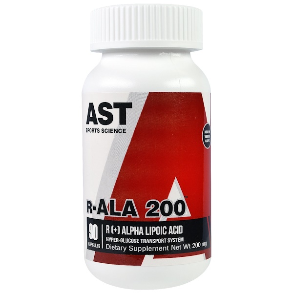 AST Sports Science, R-ALA 200, 200 mg, 90 Capsules (Discontinued Item)