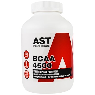AST Sports Science, BCAA 4500, 462 Capsules