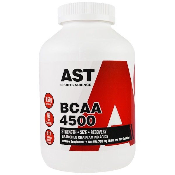 AST Sports Science, BCAA, 4500, 462 캡슐