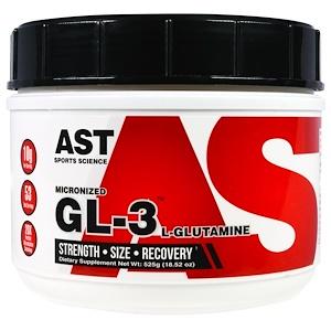 АСТ Спортс Сайэнс, Micronized GL-3, L-Glutamine, 18.52 oz (525 g) отзывы