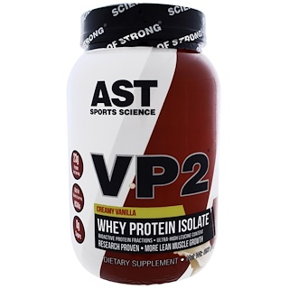 AST Sports Science, VP2, Whey Protein Isolate, Creamy Vanilla, 2.12 lbs (960 g)