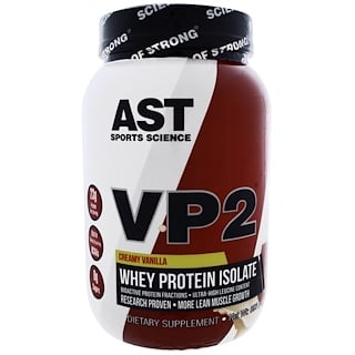 AST Sports Science, VP2, Whey Protein Isolate, Creamy Vanilla, 1.98 lbs (896 g)