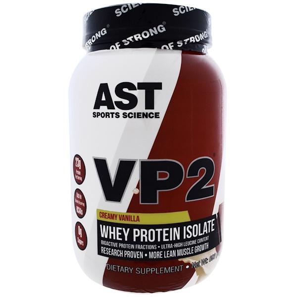 AST Sports Science, VP2,乳清分離蛋白,奶油香草,2、12 磅(960 克)