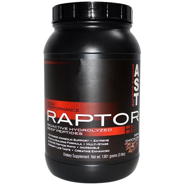 AST Sports Science, Raptor HP, Dark Chocolate, 3 lbs (1361 g) (Discontinued Item)
