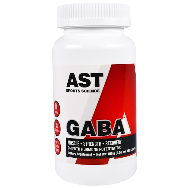 AST Sports Science, GABA, 180 Capsules (Discontinued Item)