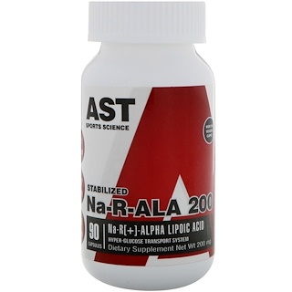 AST Sports Science, Na-R-ALA 200, 200 mg, 90 Capsules