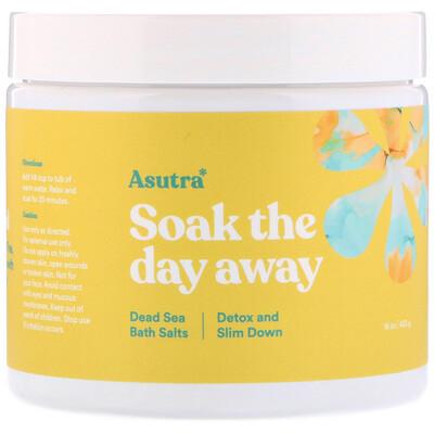 Купить Asutra Сними дневной стресс в ванне с солями Мертвого моря, детокс и похудение, 16 унций (453 г)