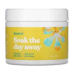 Asutra, 浸泡一天,死海浴鹽,清體塑身,16 盎司(453 克)