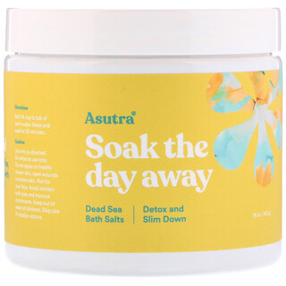 Asutra, Soak The Day Away, Dead Sea Bath Salts, Detox and Slim Down, 16 oz (453 g)