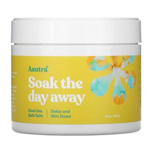 Asutra, Soak The Day Away, Dead Sea Bath Salts, Detox and Slim Down, 16 oz (453 g) отзывы