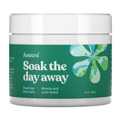 Asutra, 浸泡一天,死海浴鹽,肌肉和關節舒緩,16 盎司(453 克)