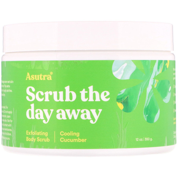 Scrub The Day Away, Exfoliating Body Scrub, Cooling Cucumber, 12 oz (350 g)