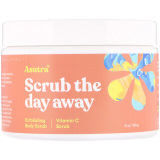 Asutra, Scrub The Day Away, Exfoliating Body Scrub, Vitamin C Scrub, 12 oz (350 g)