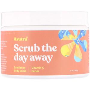 Asutra, Scrub The Day Away, Exfoliating Body Scrub, Vitamin C Scrub, 12 oz (350 g) отзывы покупателей